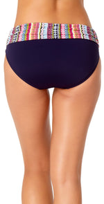 Anne Cole Fold-over Bikini Bottom in Navy back view