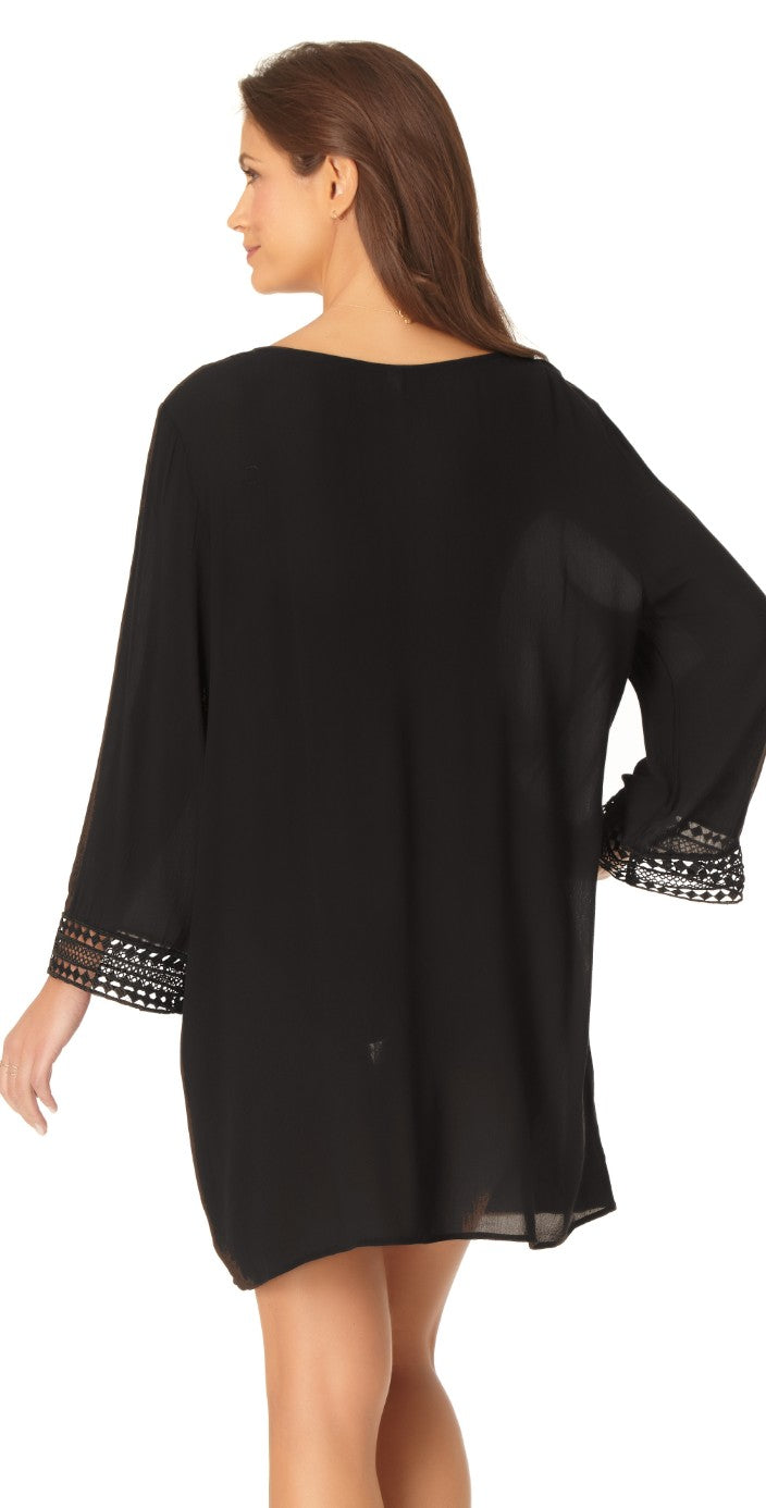 Anne Cole V-Neck Tunic Cover-up