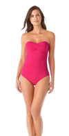 Anne Cole Live In Color Twist Front Bandeau One Piece Swimsuit