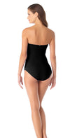 Anne Cole Twist Front Bandeau One Piece Swimsuit back view