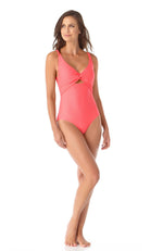 Anne Cole Dream Weaver Twist Front One Piece Swimsuit