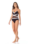 Anne Cole Hot Mesh Spliced Mesh One Piece Swimsuit