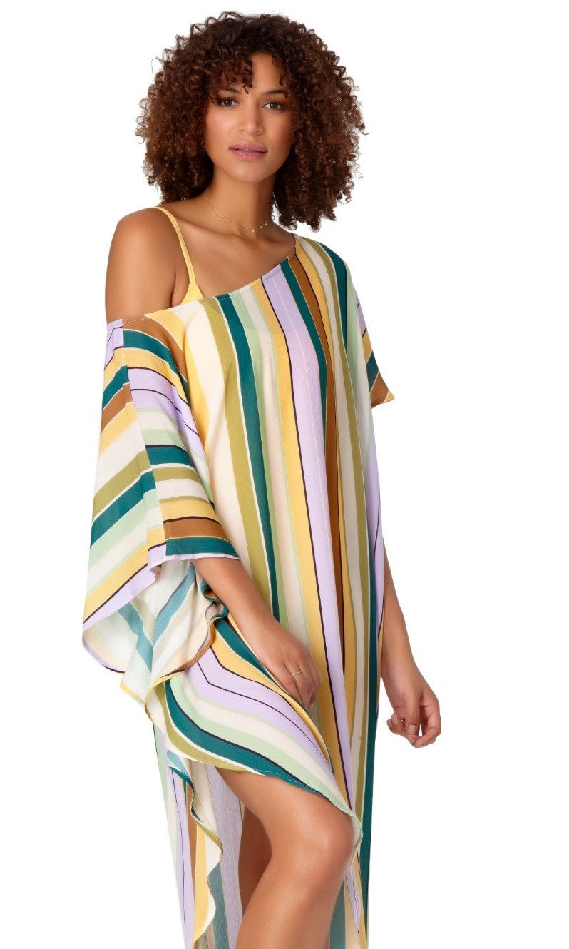 Anne Cole Studio Easy Drape Striped Tunic