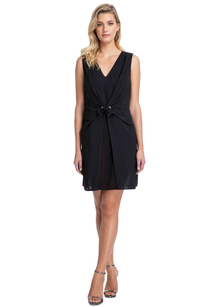 Gottex Vogue Short Dress in Black front