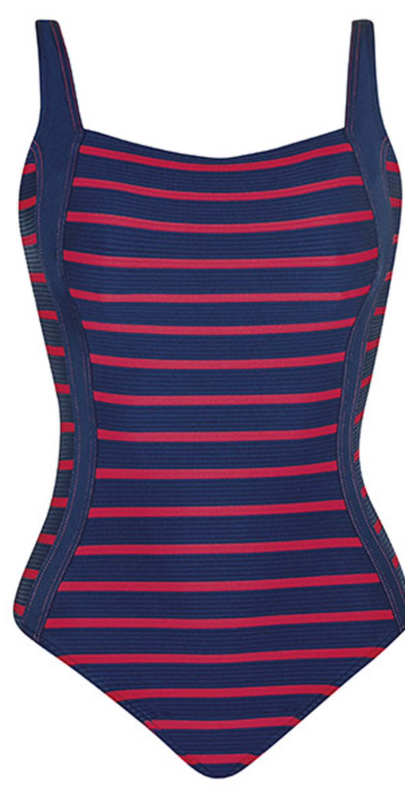 Sunflair New Nautic Square Neck One Piece Swimsuit in Navy Flat image