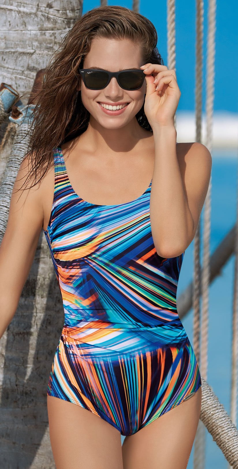 Sunflair Color Composition Mastectomy One Piece Swimsuit 22279 99: