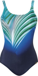 Sunflair Blue Charm Mastectomy One Piece Swimsuit 22283 Blue: