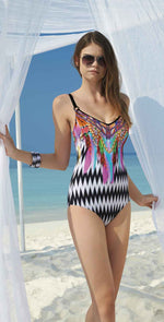Sunflair Ethno Fantasy V Neck One Piece front