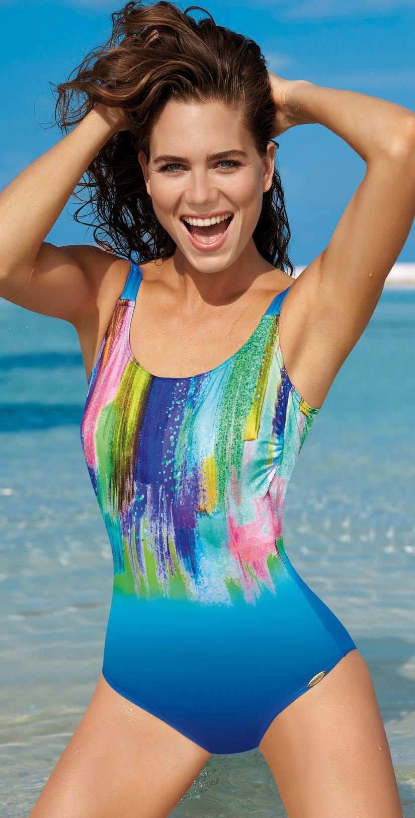 Sunflair Fun In The Sun Mastectomy One Piece Swimsuit 22303 26: