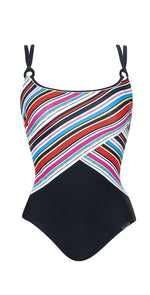 Sunflair Flowers and Stripes Shape wear One Piece Swimsuit 22316 910: