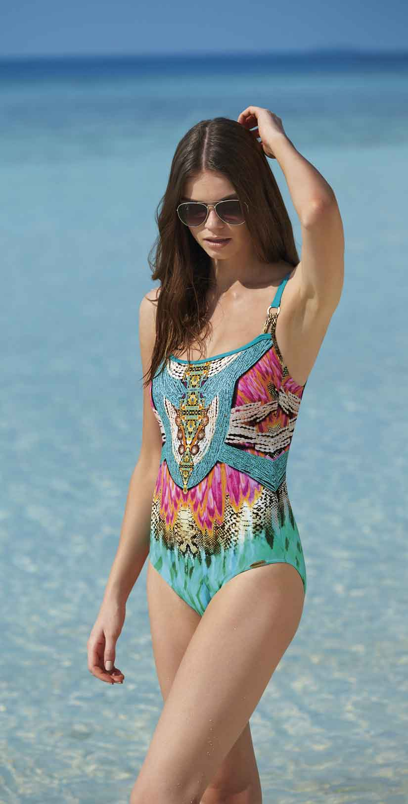 Sunflair Oriental Dream Round Neck One Piece front