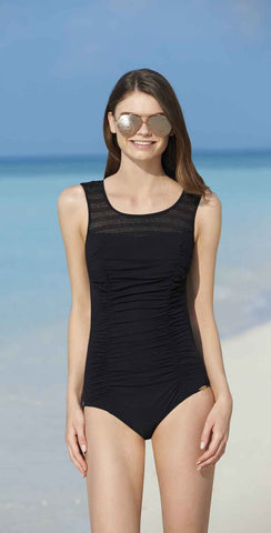 Sunflair New Nautic Square Neck One Piece Swimsuit in Navy