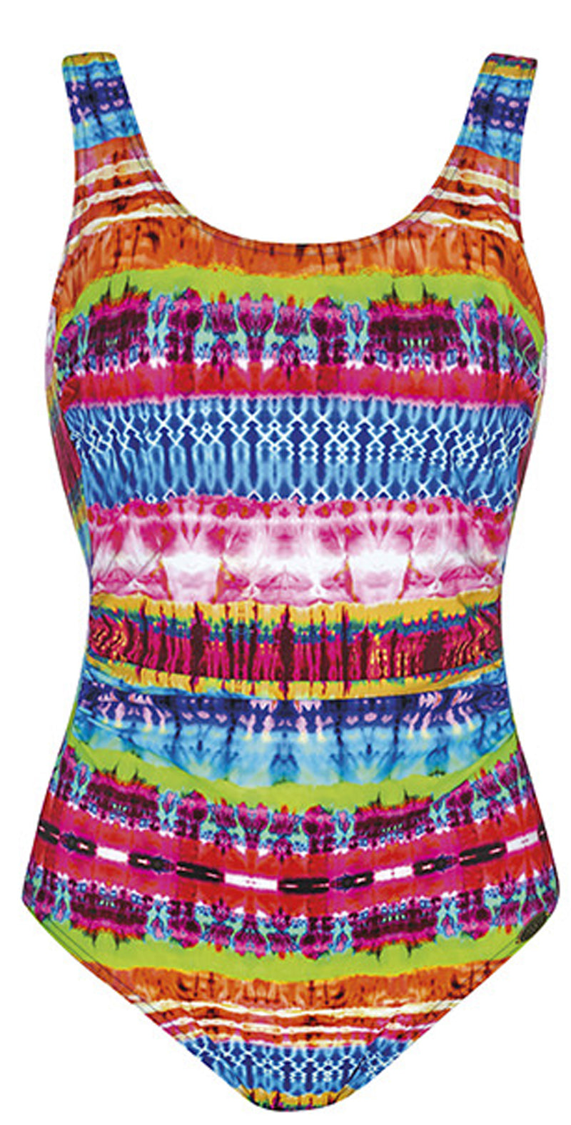 Sunflair Wild World Mastectomy Scoop Neck One Piece Swimsuit Flat image