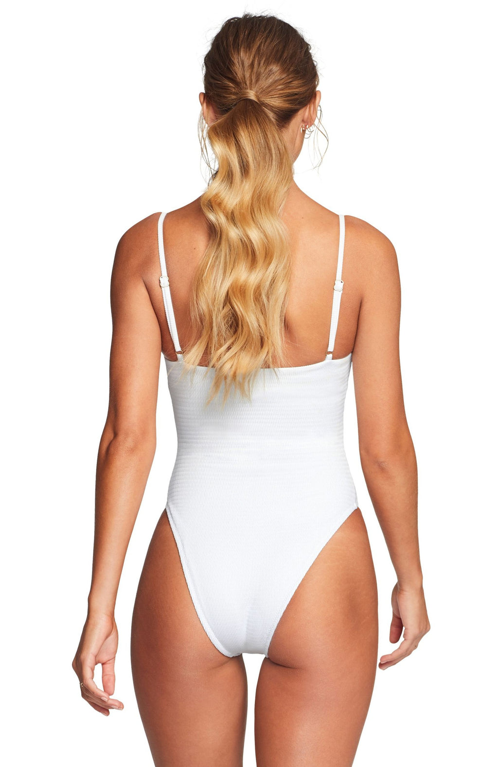 Vitamin A Jenna One Piece Swimsuit in White EcoTex