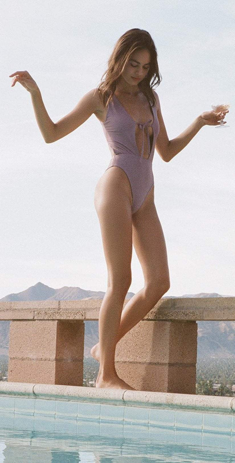 Kirsten Jade Cody One Piece Swimsuit in Purple S1903-PUR: