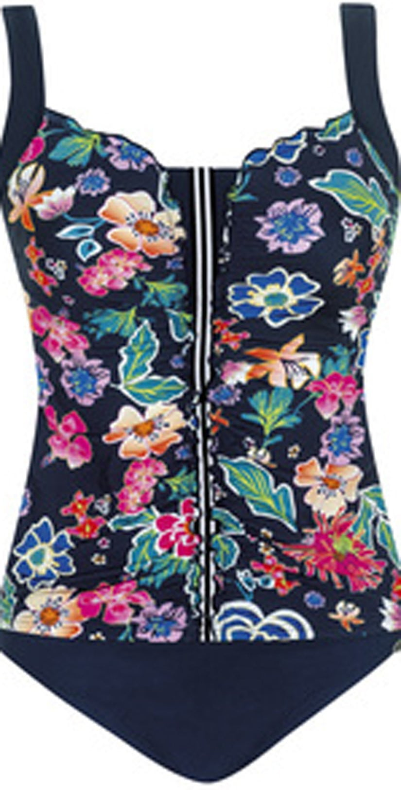 Sunflair Dark Flower Mastectomy Tankini Set 28055 Blue: