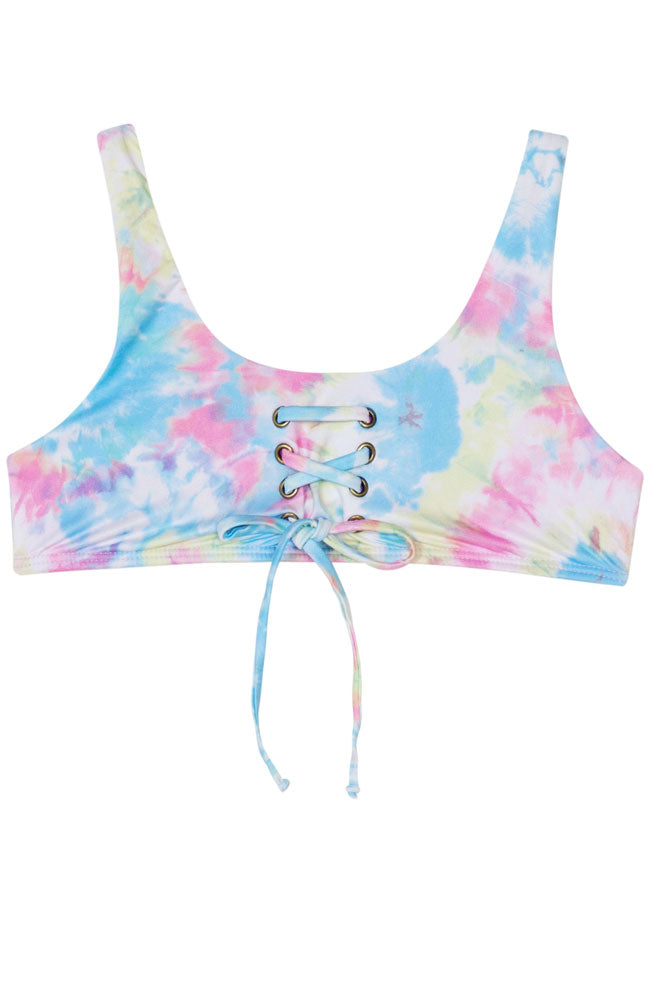 PQ Swim Groovy Girls Lace Up Bikini top