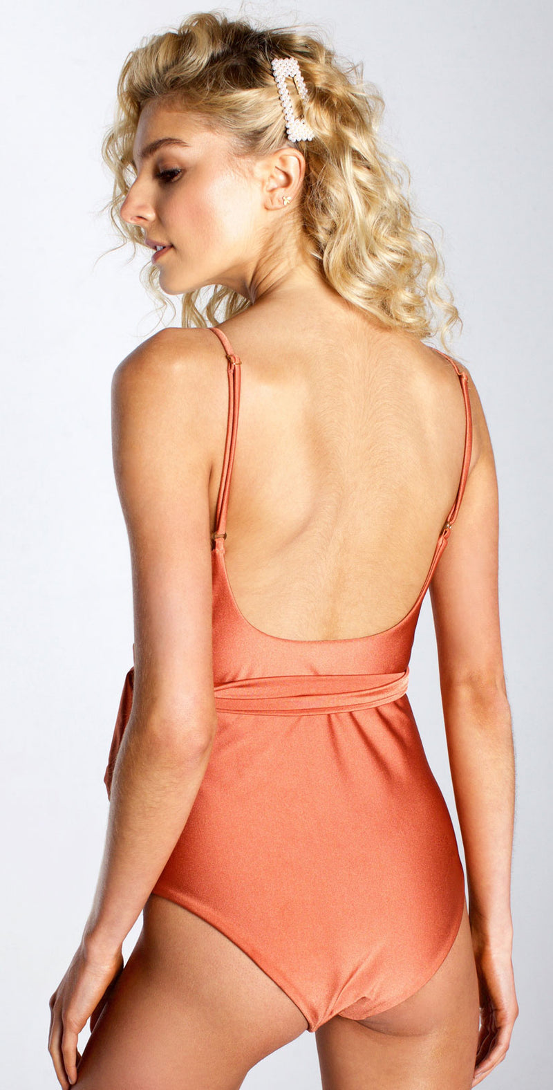 Westerly Topsail Maillot One Piece in Copper back