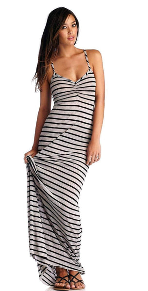 CA by Vitamin A Erica Stripe Dress in Black 33DHSB: