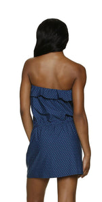 Draper James for Helen Jon Ruffle Poolside Dress in Petite Dot back