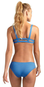 Vitamin A Emelia EcoLux Triple Strap Bottom in Mediterranean Blue 717B MBE: