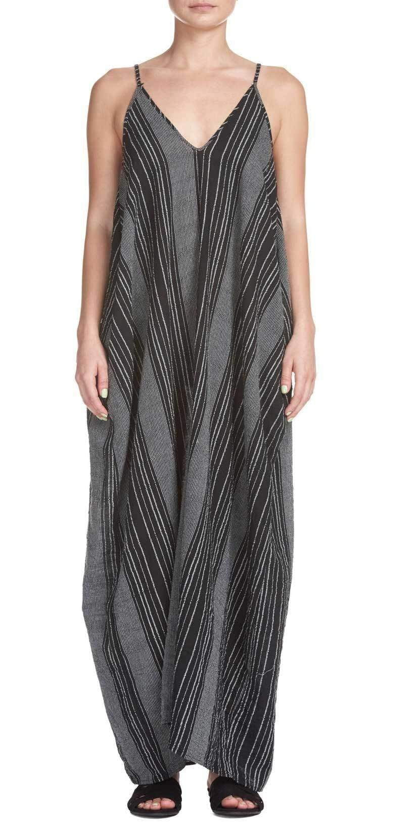 Elan Balloon Maxi in Black And White Stripes RGS5060 BLK: