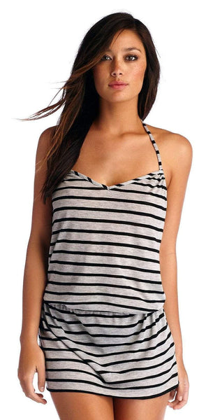 CA by Vitamin A Heather Stripe Black Coachella Dress 45DHSB
