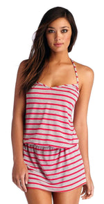 CA by Vitamin A Heather Stripe Rosie Coachella Dress 45DHSR: