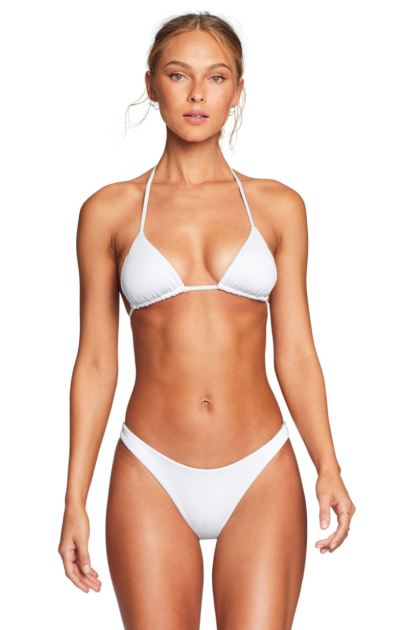 Vitamin A Gia Reversible Triangle Top in White EcoTex