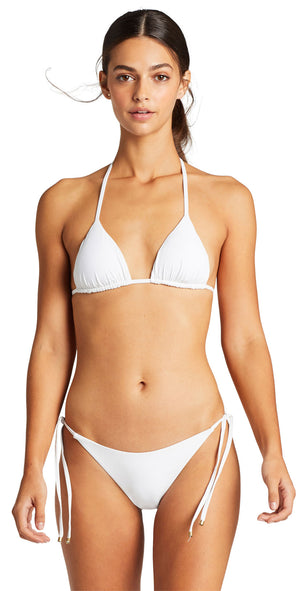 Vitamin A Elle EcoLux Tie Side Bottom in White front
