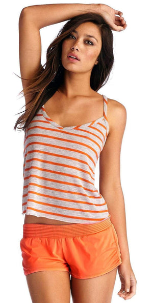 CA by Vitamin A Tali Cross Back Tank in Clementine 4TNHCT: