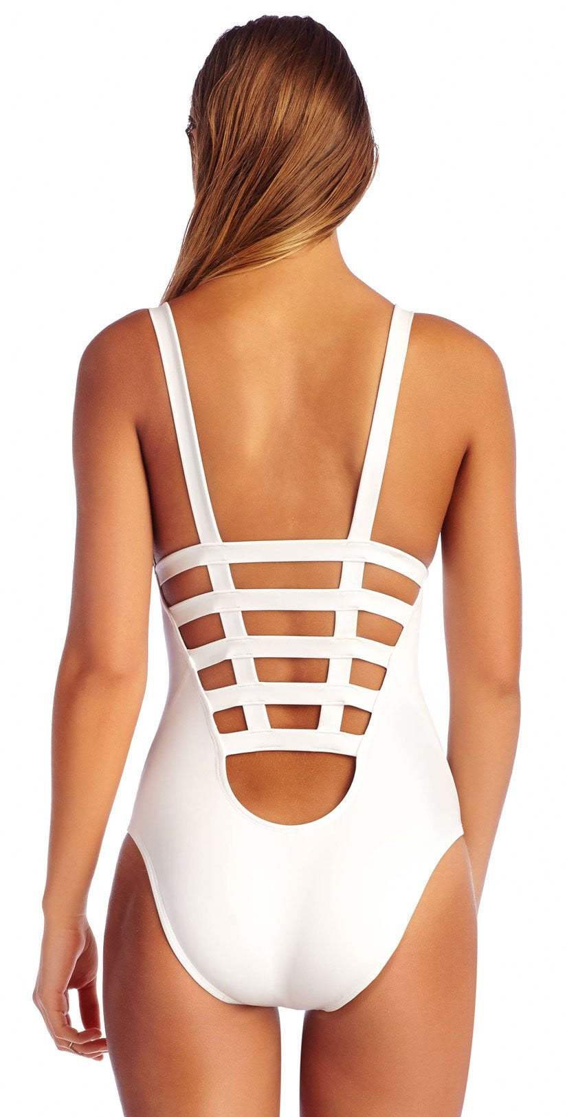 Vitamin A EcoLux Neutra One Piece in White 50M ECW back view