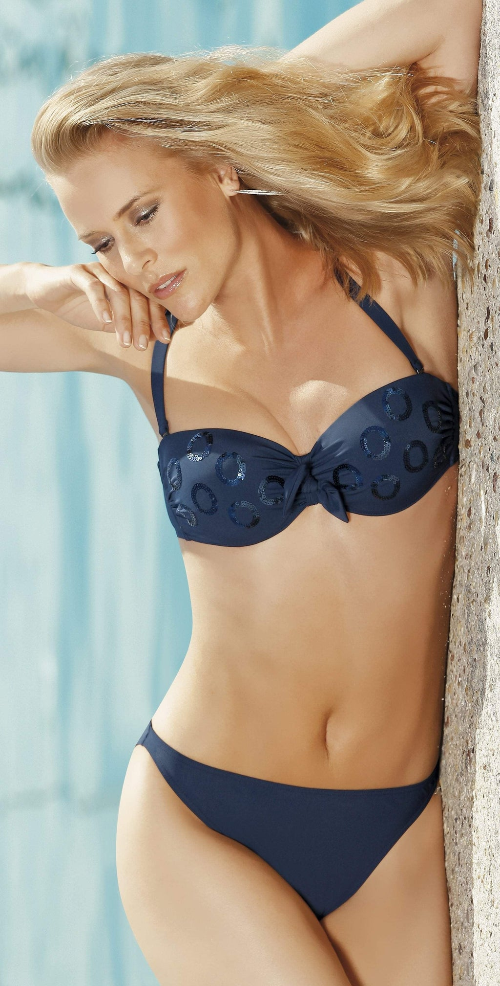 Opera Swim Couture Navy Bandeau Bikini Set 61003-30: