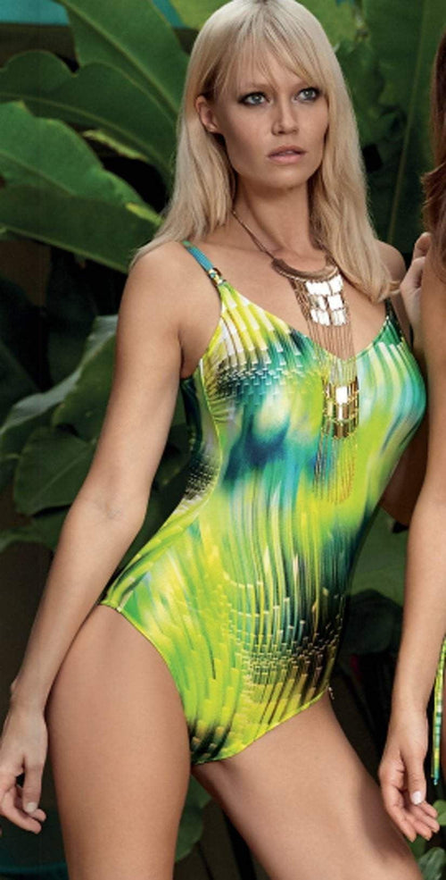Opera Greenwater One-Piece Swimsuit 62671-75 front lifestyle model