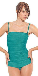 Gottex Mikado Draped Bandeau Swimsuit M01-161-435: