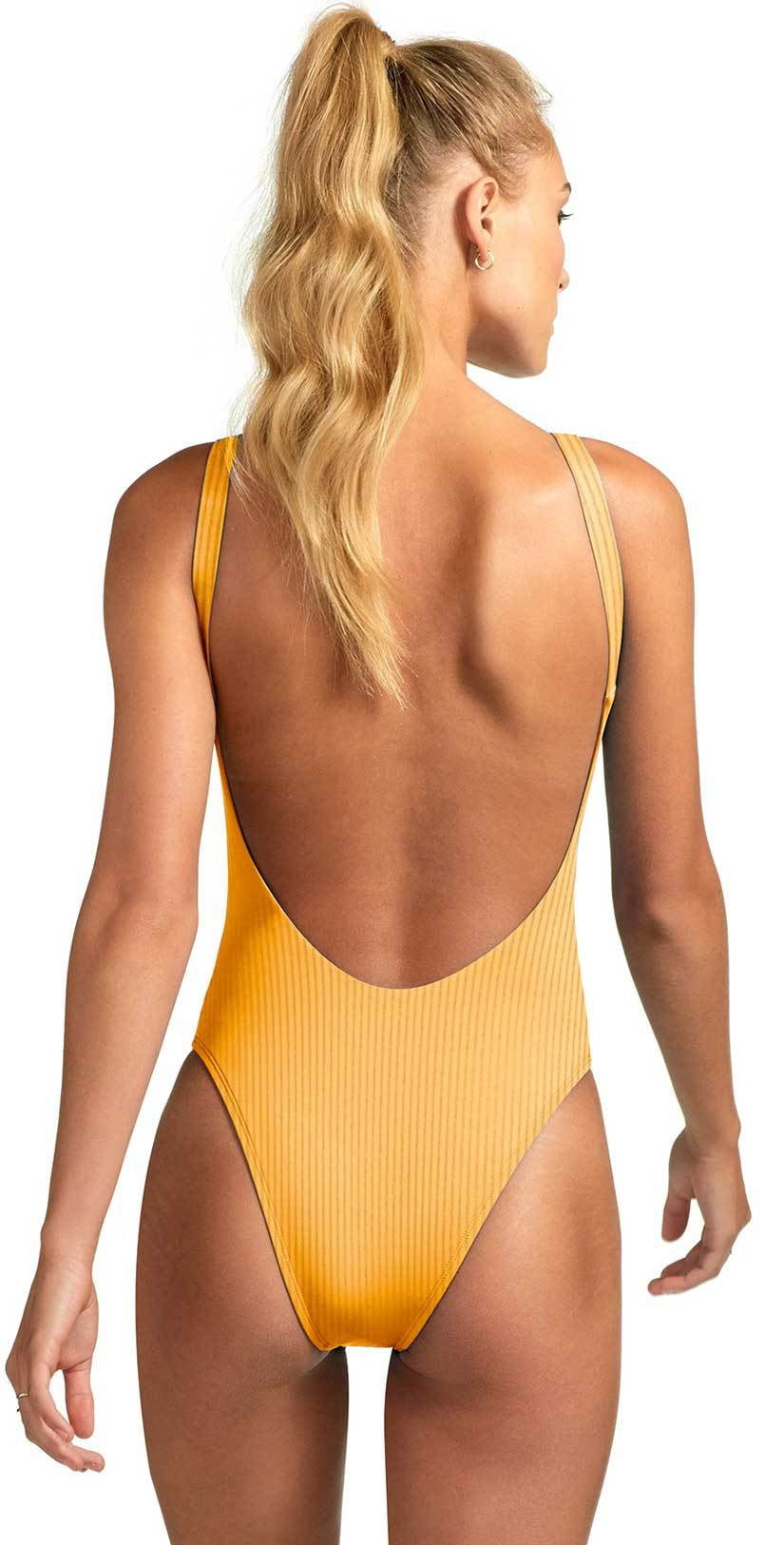 Vitamin A Eco Rib Leah One Piece in Marigold Eco Rib 76M ERM: