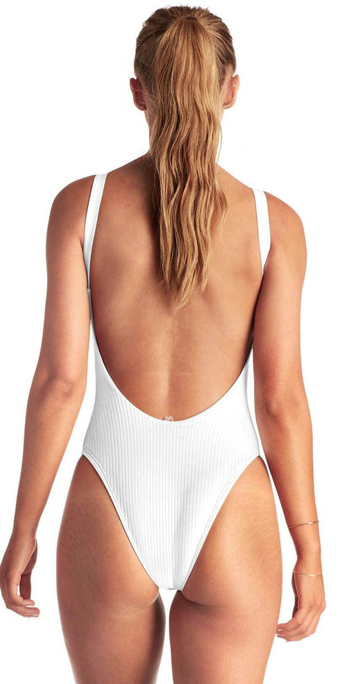 Vitamin A Eco Rib Leah One Piece in White 76M ERW: