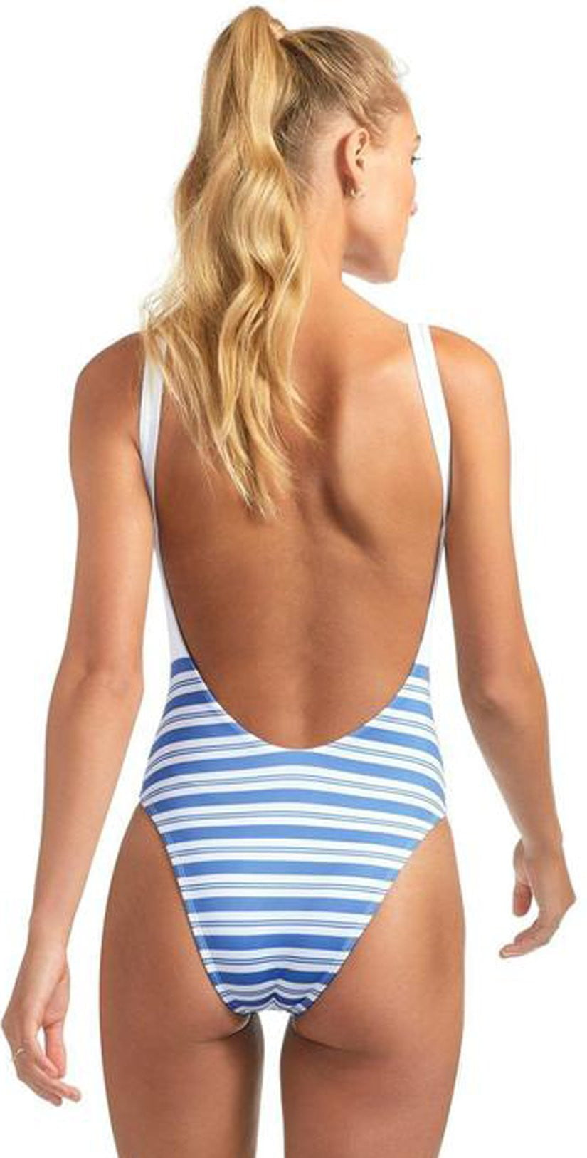 Vitamin A Leah One Piece Bodysuit in Regatta Stripe 76M REG: