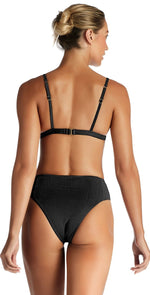 Vitamin A EcoRib Sienna High Waist Bottom in Black 814B ERB: