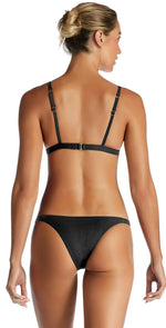 Vitamin A Carmen EcoRib Bikini Bottom in Black 84B ERB: