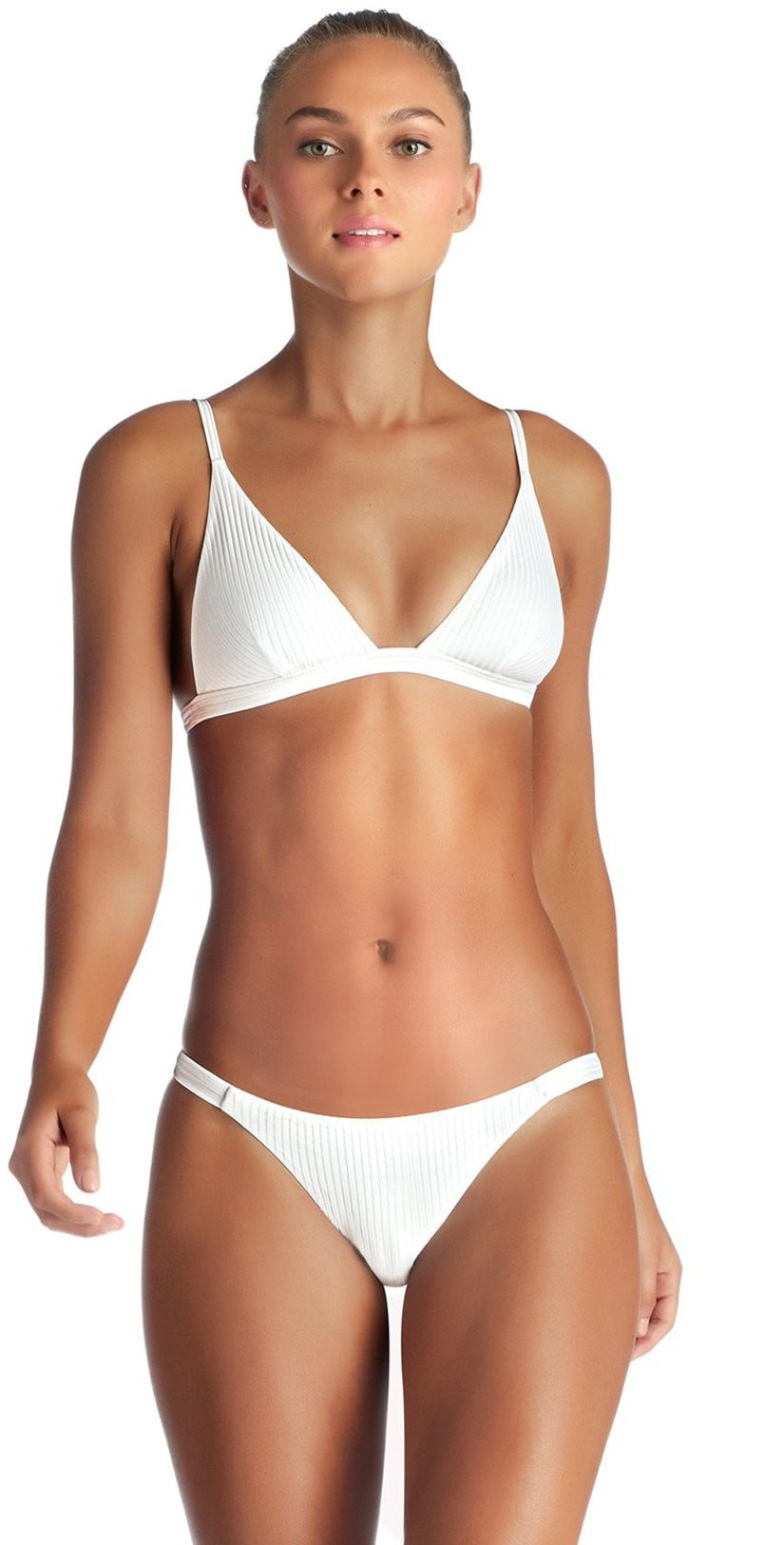 Vitamin A Carmen EcoRib Cheeky Bottom in White 84B ERW: