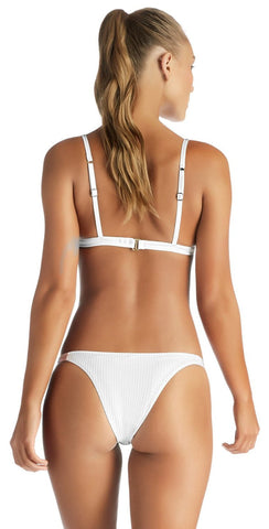 Vitamin A White EcoRib Carmen Cheeky Bottom 84B-ERW