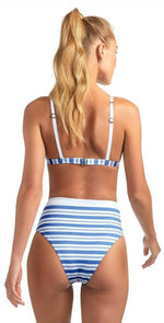 Vitamin A Lupe High Waist Bottom in Regatta Stripe 904B REG: