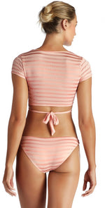 Vitamin A Ballerina Wrap Top in Pink Ballet Stripe 7RG BBS: