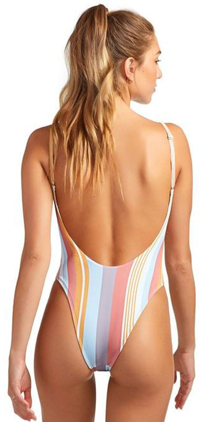 Vitamin A EcoRib Yasmeen One Piece in Verano Stripe Eco Rib 801M VRS: