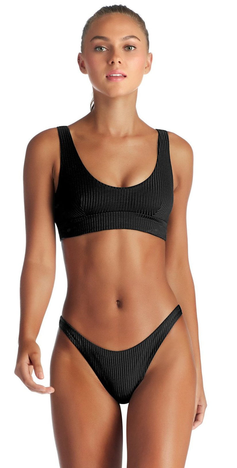 Vitamin A Sienna EcoRib Bikini Top in Black 809T ERB: