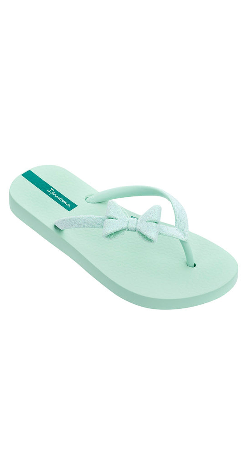 Kids Ipanema Sparkle Bow II Girls Flip Flops Pink and White Beach Sandals