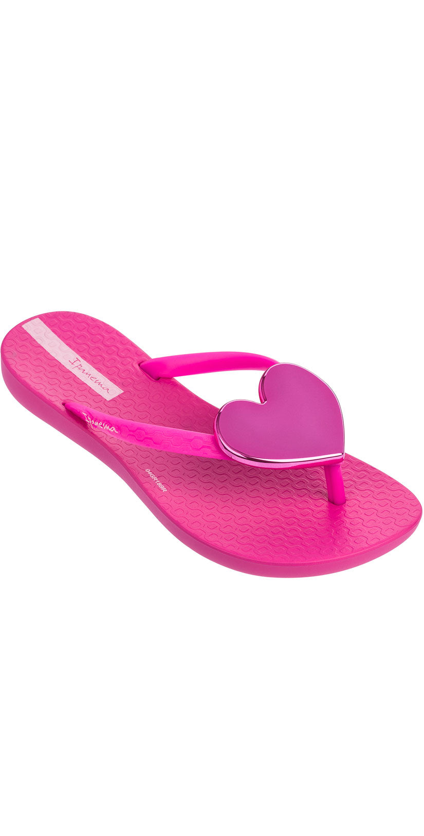 Ipanema Kids Wave Heart Flip Flop in Pink
