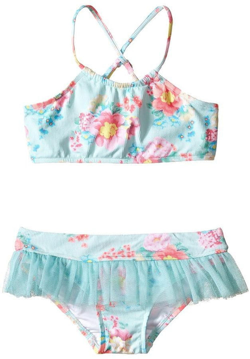 Seafolly Girls Spring Bloom Tankini Set 26111T flat lay