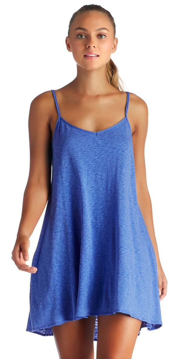 Vitamin A EcoCotton Beach Blue Paloma Knit Mini Dress 8DS-BBC